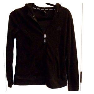 Black zip up RBX fleece hoodie jacket